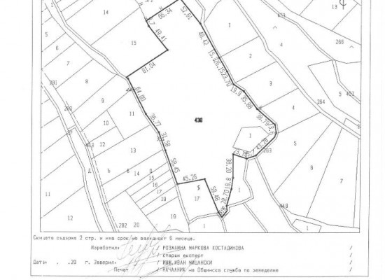 Big plot of land for sale near hot mineral spring