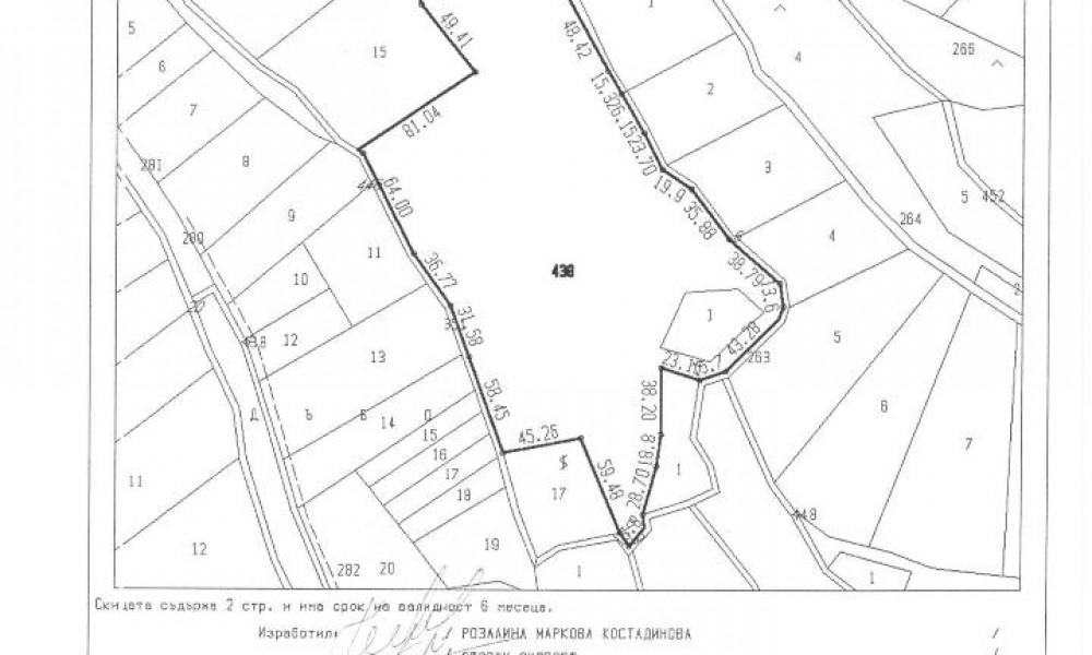 Продажба на 38дка земя в близост до минерална вода